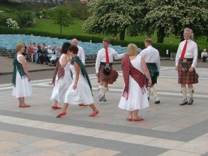 Dancing in Princes Street